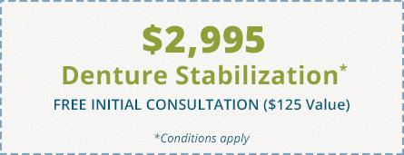 $2995 Denture Stabilization coupon